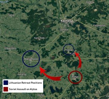 Lith retreat soviet assault